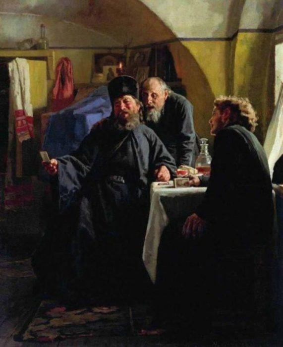 Монахи. Автор: Николай Неврев.