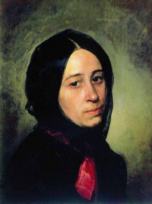 Портрет М.И. Третьяковой. Автор: Николай Неврев.