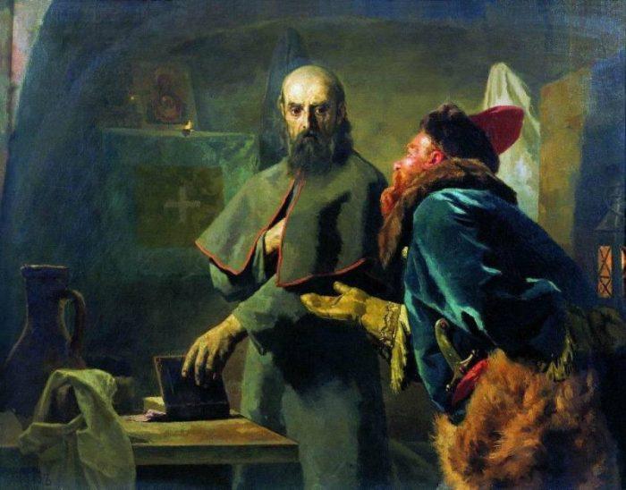 Последние минуты митрополита Филиппа. Автор: Николай Неврев.