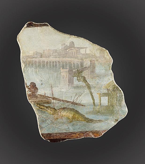 Фрагмент фрески с нильским пейзажем, ок. 1-79 н.э. \ Фото: getty.edu.