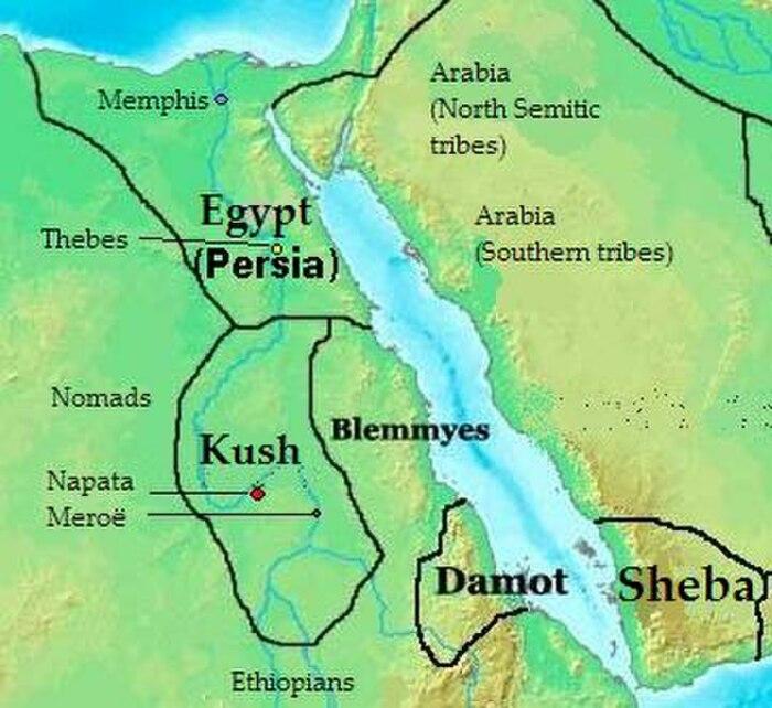 Карта Кушитского царства. \ Фото: stringfixer.com.