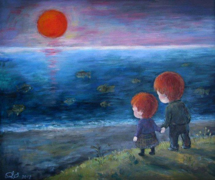 Возвращаясь в детство... Автор работ: Нино Чакветадзе (Nino Chakvetadze).