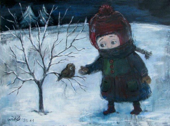 Искренние и очаровательные картины, в которых оживают милые детишки. Автор работ: Нино Чакветадзе (Nino Chakvetadze).