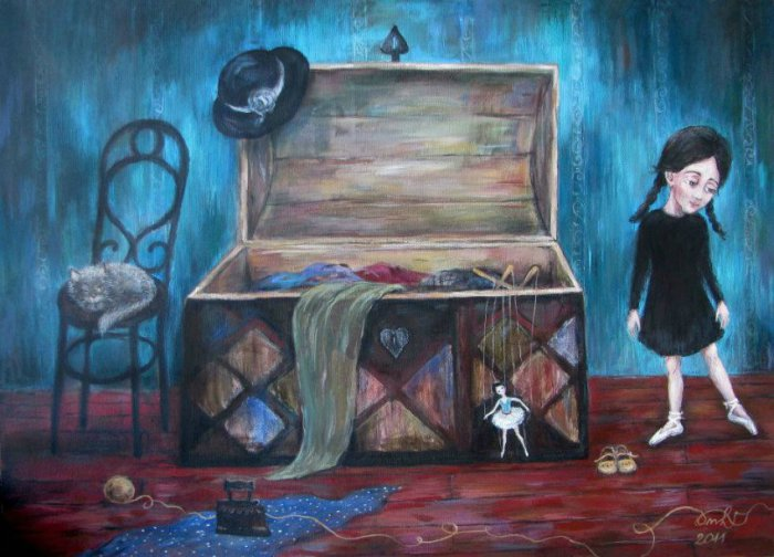 Картины с капелькой грусти. Автор работ: Нино Чакветадзе (Nino Chakvetadze).