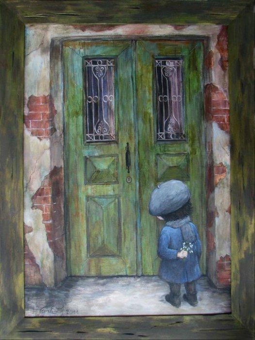 Трогательный момент. Автор работ: Нино Чакветадзе (Nino Chakvetadze).