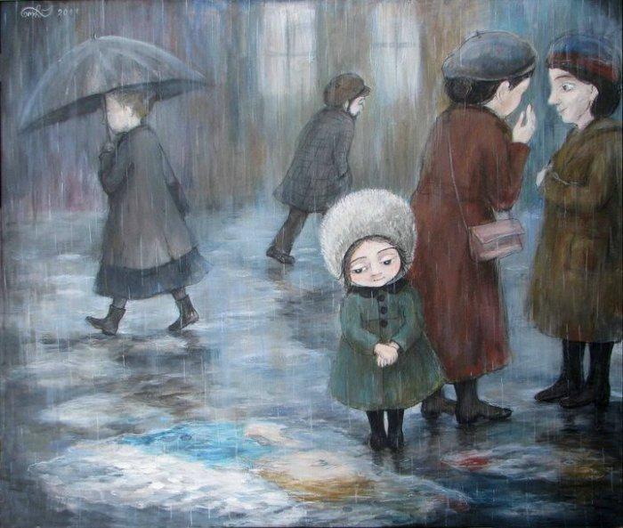 Ненастная погода. Автор работ: Нино Чакветадзе (Nino Chakvetadze).