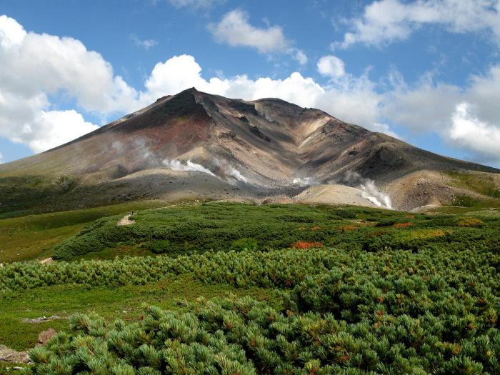 Фото спящего вулкана  Асахи.