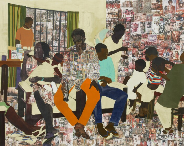 Картина «5 Umezebi Street, New Haven», Нидека Акуниили Кросби. \ Фото: victoria-miro.com.