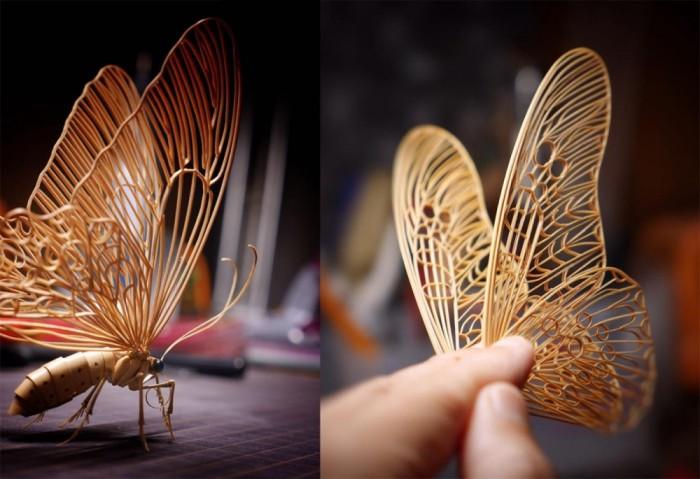 Изящные бамбуковые бабочки. Автор: Noriyuki Saitoh.