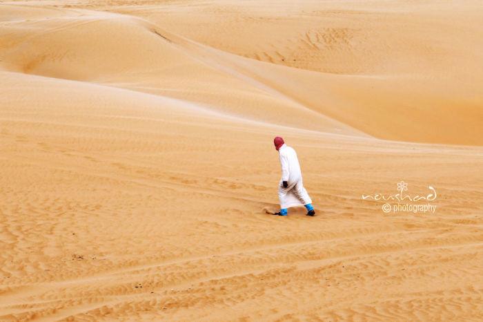 Оранжевые пески пустыни. Автор фото: Noushad GD.