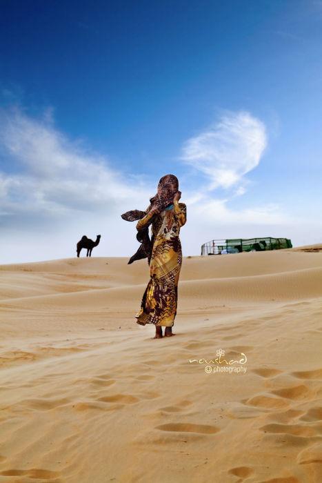 Бедуинская женщина. Автор фото: Noushad GD.