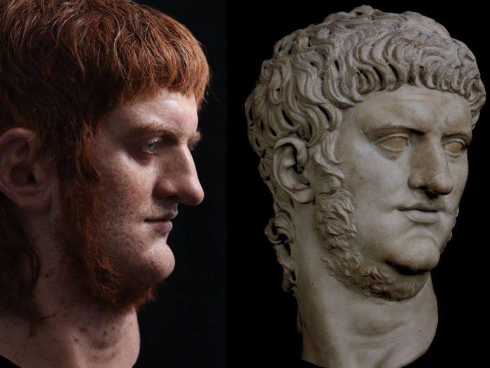 Воссозданная внешность императора-деспота Нерона. \ Фото: fanpage.it.
