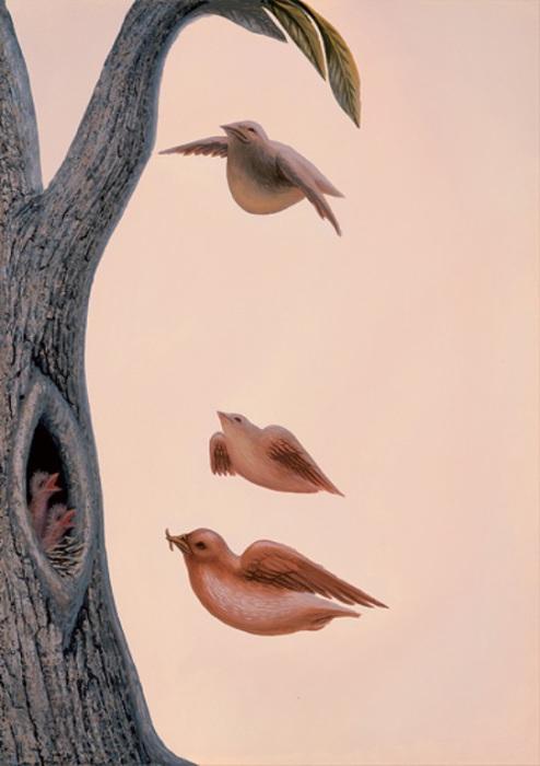 Семейство птиц. Автор: Octavio Ocampo.