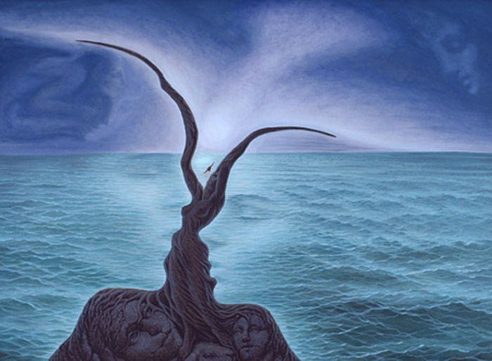 Поцелуй на море. Автор: Octavio Ocampo.