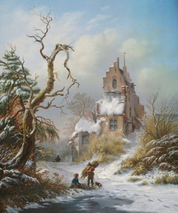 Домик, зима. Автор: Оксана Калина.