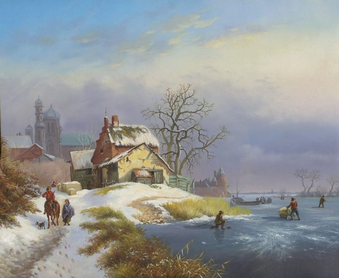 Зима.Каток. Автор: Оксана Калина.