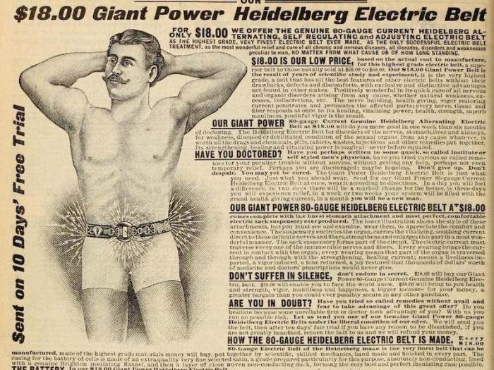 Электрический пояс для гениталий.