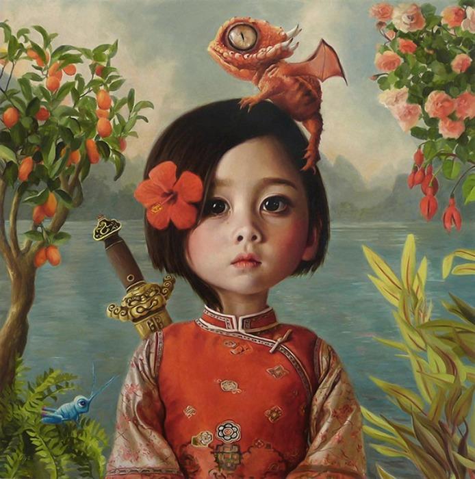 Работа, ставшая победителем: «Мулан» (масло на панели). Автор: Olga Esther.