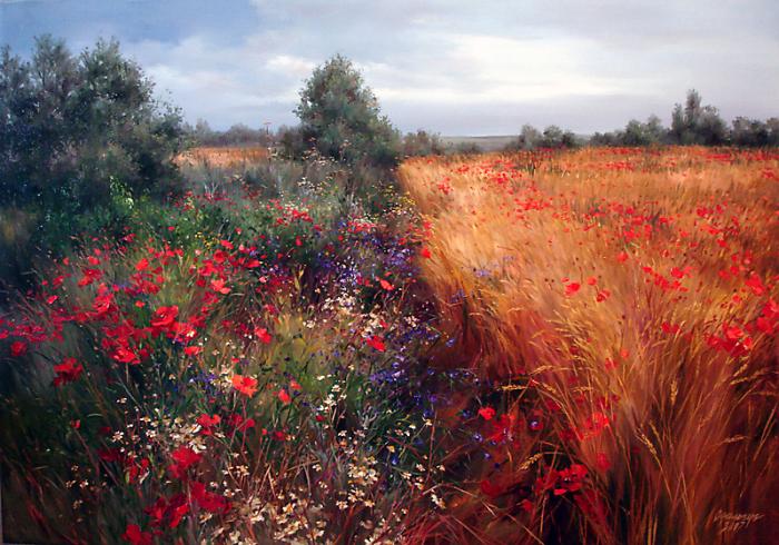 Чудесные цветочные пейзажи Ольги Одальчук (Olga Odalchuk).