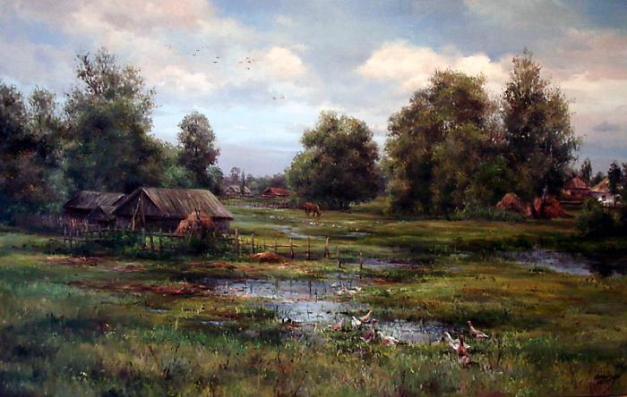 Деревенское раздолье. Автор: Ольга Одальчук (Olga Odalchuk).