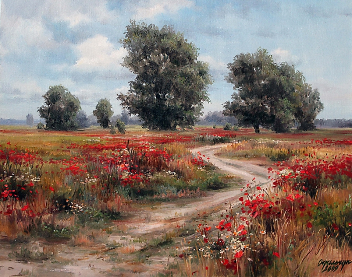 По-настоящему искренние и тёплые картины Ольги Одальчук (Olga Odalchuk).