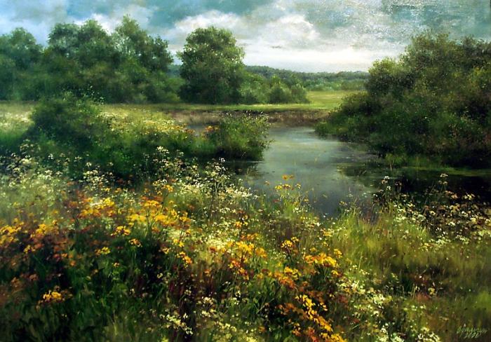Живописные пейзажи от Ольги Одальчук (Olga Odalchuk).