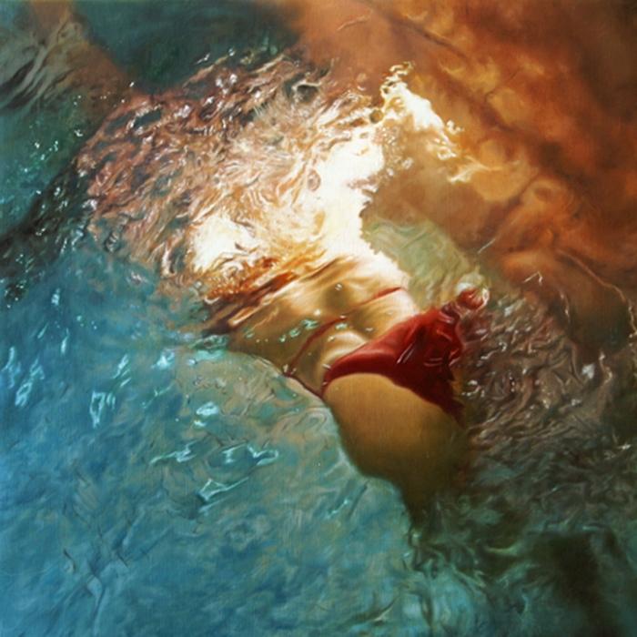 Ускользающее мгновение. Серия фотографий «Вода и девушки».  Автор фото: Оливер Вилсон (Oliver Wilson).