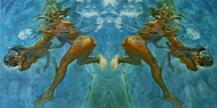 Подводный танец. Серия фотографий «Вода и девушки».  Автор фото: Оливер Вилсон (Oliver Wilson).