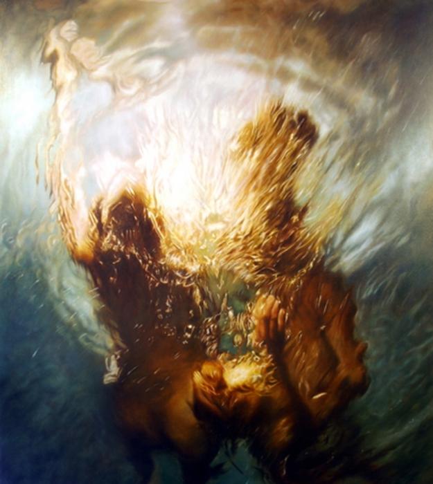 Ближе к свету. Серия фотографий «Вода и девушки».  Автор фото: Оливер Вилсон (Oliver Wilson).