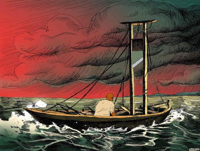 Старик и море. Автор: Olivier Bonhomme.