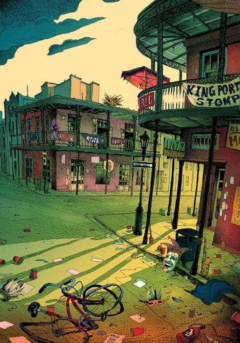 На улицах Нового Орлеана. Автор: Olivier Bonhomme.
