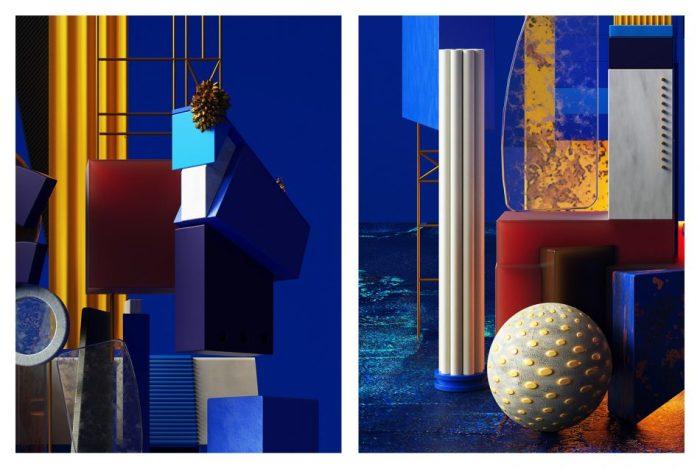 Современный трёхмерный кубизм. Автор: Omar Aqil.