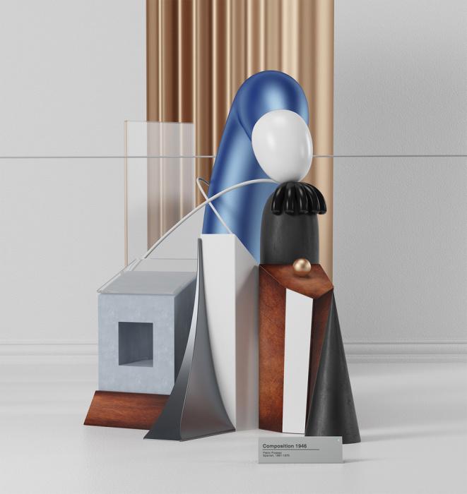 Пикассо, воссозданный в 3D: Интерпретация знаменитых картин на новый лад