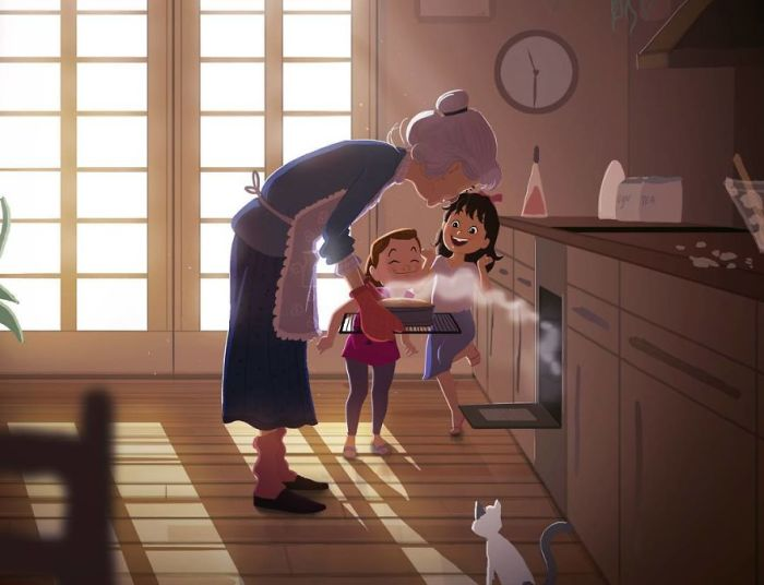 Бабушкина выпечка. Автор: Omario2d.
