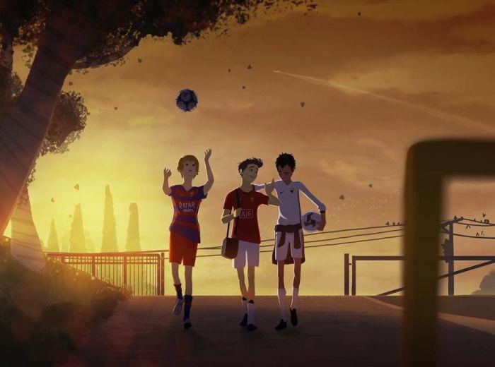 Юные футболисты. Автор: Omario2d.