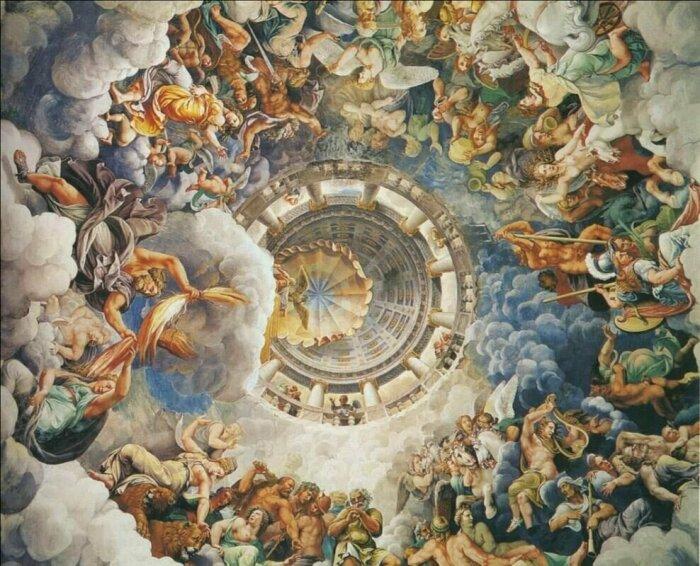 Комната гигантов, фреска Джулио Романо, 1532-34 гг. \ Фото: google.com.