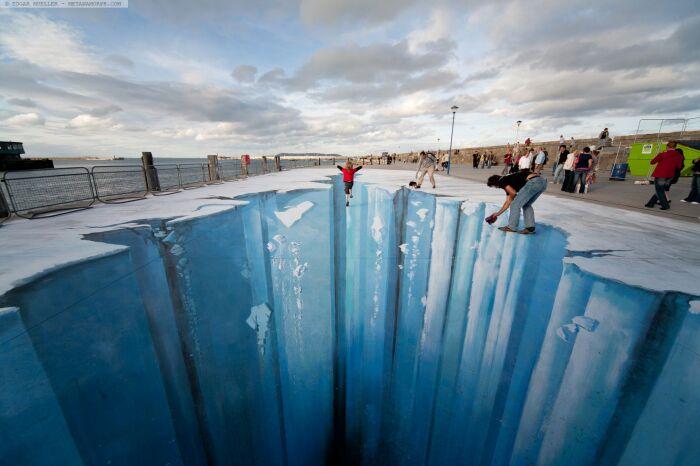 Невероятно реалистичный оп-арт от Эдгара Мюллера. \ Фото: yandex.ua.