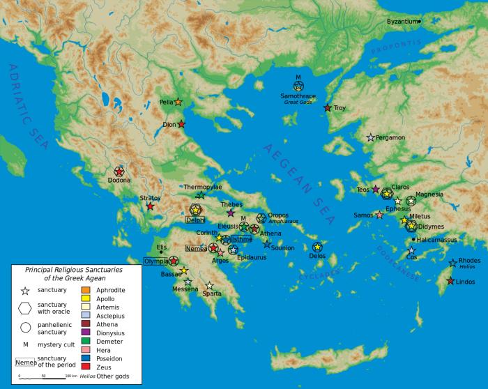 Карта населения Греции. \ Фото: carte-du-monde.net.