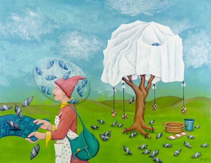 Сад Цезаря (Caesar Garden). Мир в себе. Картины израильского художника Орна Бен-Шошан (Orna Ben-Shoshan).