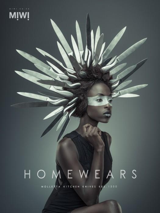 Кухонные ножи. Серия фотографий для магазина MIWI. Автор фото: Осборн Махария (Osborne Macharia).