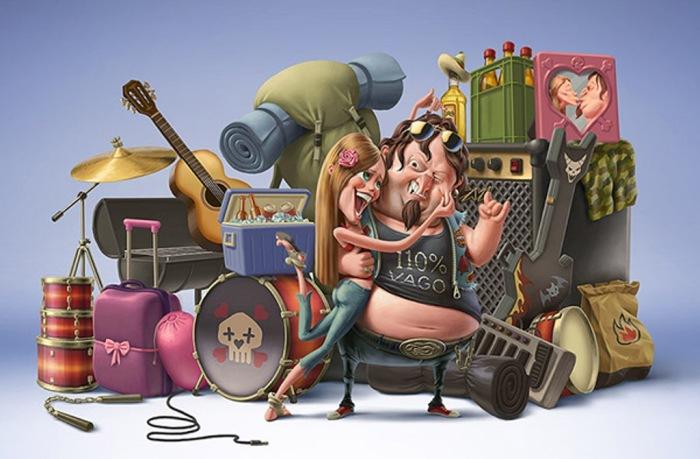 Сумасшедшая семейка. Автор: Oscar Ramos.