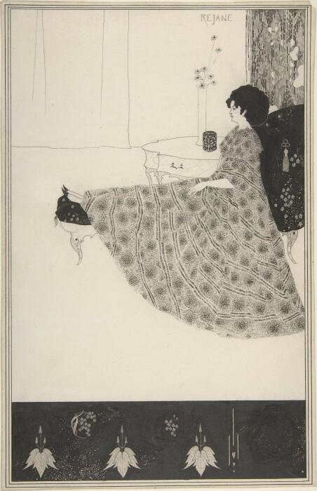 Обри Бёрдслей: Портрет мадам Режан. \ Фото: flickr.com.