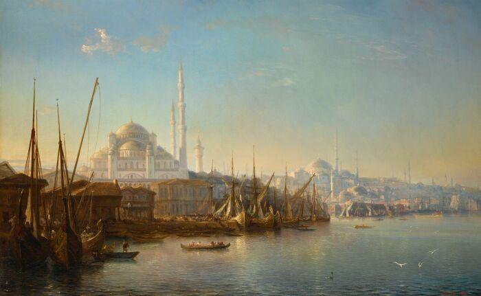 Золотой Рог, Теодор Гюден, 1851 год.  Фото: mutualart.com.