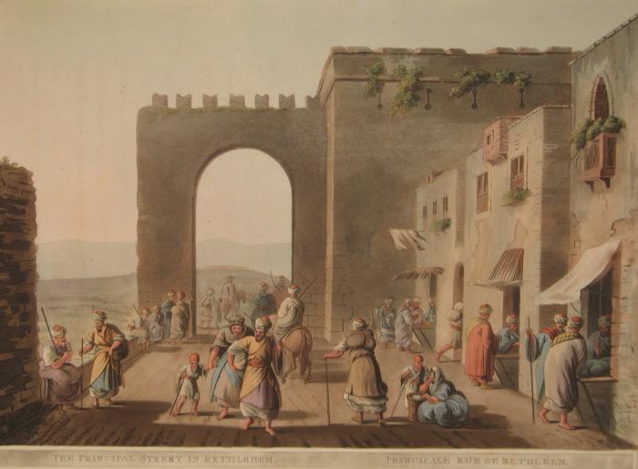 Главная улица в Вифлееме. Луиджи Майер. (Вторая половина 18 века).