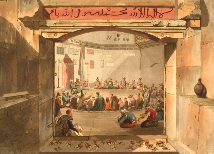 Радения дервишей. Греция. Эдвард Додвелл. 1821 г.