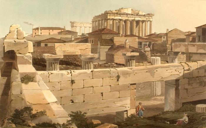 Парфенон в Афинах. Эдвард Додвелл. 1821 г.