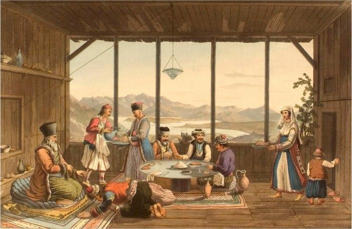 Ужин в Дельфах. Эдвард Додвелл. 1821 г.