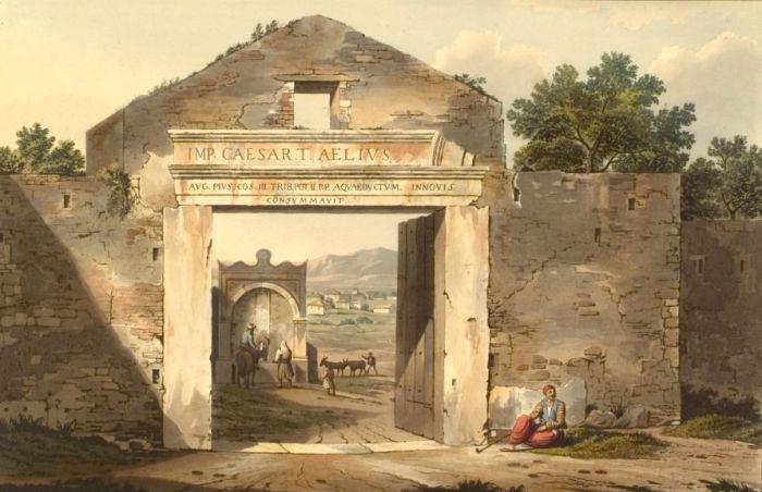 Ворота в Афинах. Эдвард Додвелл. 1821 г.
