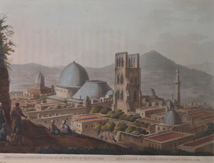 Вид на Храм Гроба Господня в Иерусалиме. Луиджи Майер. (Вторая половина 18 века).