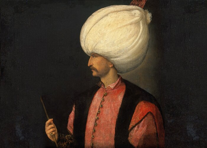 Сулейман Великолепный из Османской империи, Тициан, 1530 год. \ Фото: dailysabah.com.